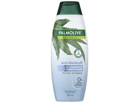 Palmolive Naturals Anti Dandruff 2 in 1 Hair Shampoo & Conditioner Tea Tree + Eucalyptus 350mL
