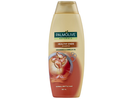 Palmolive Naturals Hair Shampoo Healthy Ends Ceramides & Camellia Oil for Normal/Brittle Hair 350mL