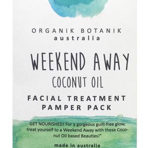 Organik Botanik Weekend Away Coconut Oil Hair & Facial Treatment Pack