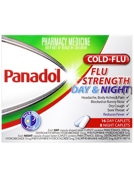 Panadol C&F Flu Strength Day & Night Caplets 24s