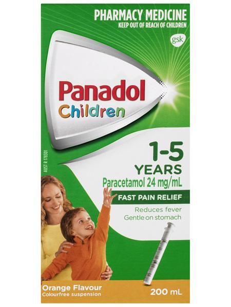Panadol Children 1-5 Years Orange Flavour 200mL