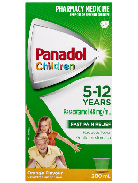 Panadol Children 5-12 Years Orange Flavour 200mL