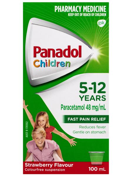 Panadol Children 5-12 Years Strawberry Flavour 100mL