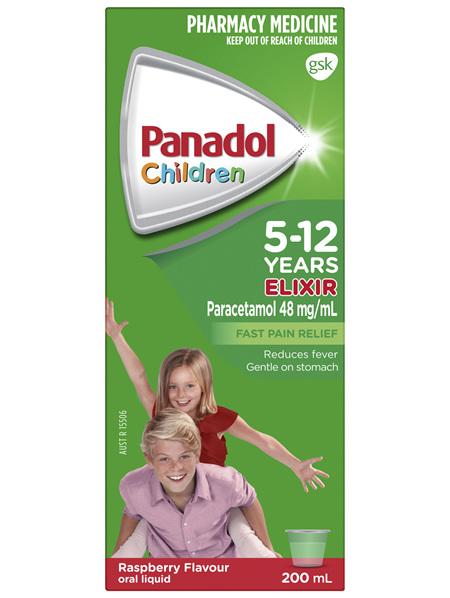Panadol Children's 5-12 Years Elixir Oral Liquid 200mL