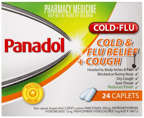 Panadol Cold & Flu Relief + Cough 24 Caplets