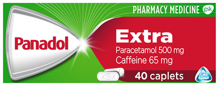 Panadol Extra with Optizorb, Paracetamol Pain Relief Caplets, 40