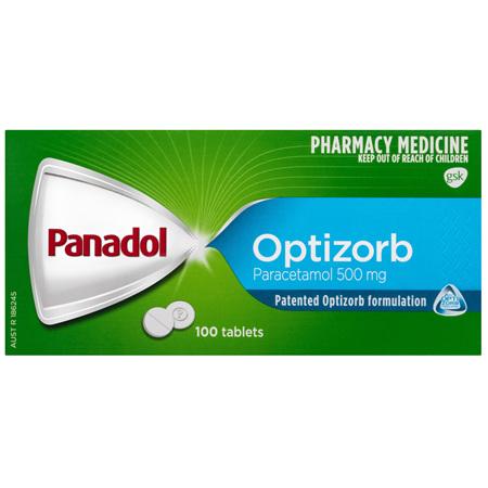 Panadol Optizorb Paracetamol 500mg 100 Tablets