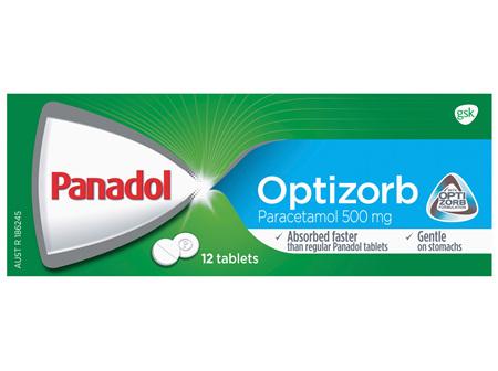 Panadol Optizorb Paracetamol 500mg 12 Tablets