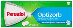 Panadol Optizorb Paracetamol 500mg 20 Tablets