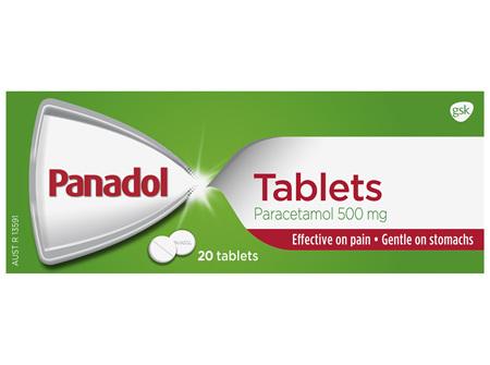 Panadol Pain Relief Paracetamol Tablets 20 Pack