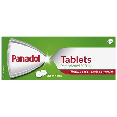Panadol Pain Relief Paracetamol Tablets 20 Pack
