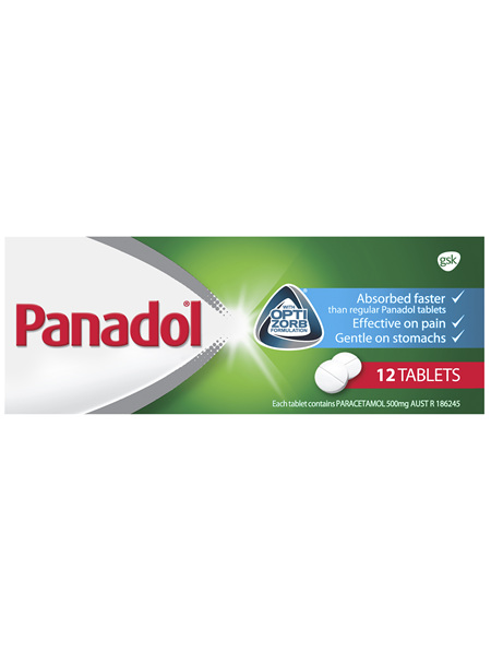 Panadol Pain Relief Tablets with Optizorb Formulation Tablets 12