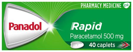 Panadol Rapid Paracetamol 500mg 40 Caplets