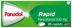Panadol Rapid, Paracetamol Pain Relief Caplets, 20
