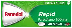 Panadol Rapid, Paracetamol Pain Relief Caplets, 40