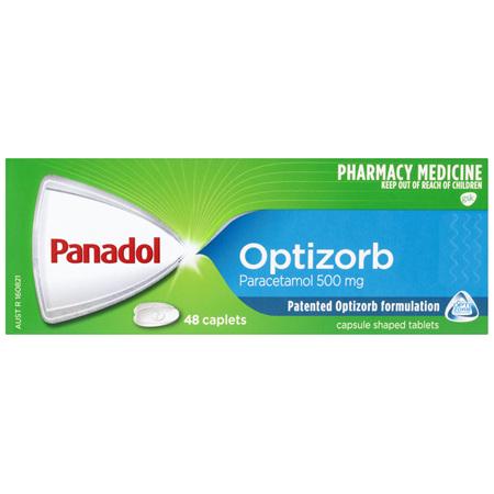 Panadol with Optizorb, Paracetamol Pain Relief, 48 Caplets
