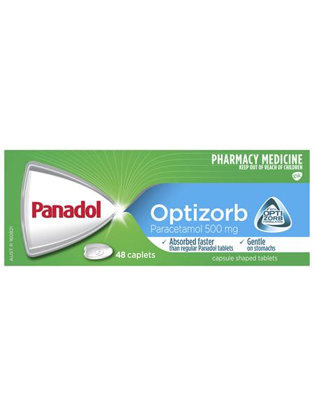Panadol with Optizorb, Paracetamol Pain Relief Caplets, 48