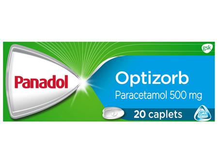 Panadol with Optizorb, Paracetamol Pain Relief Caplets, 20