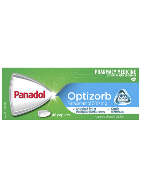 Panadol with Optizorb, Paracetamol Pain Relief Caplets, 48