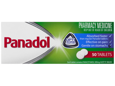 Panadol with Optizorb, Paracetamol Pain Relief Tablets, 50