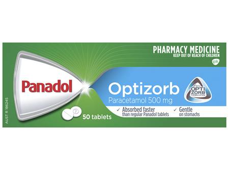 Panadol with Optizorb, Paracetamol Pain Relief Tablets, 50