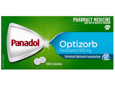 Panadol with Optizorb, Paracetamol Pain Relief  Tablets, 100