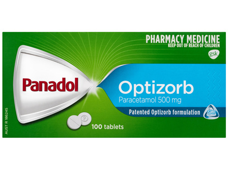 Panadol with Optizorb, Paracetamol Pain Relief  Tablets, 100