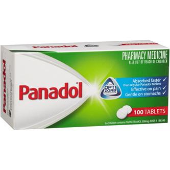 Panadol with Optizorb Tablets 100 Tabs