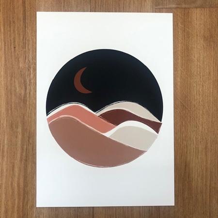 Papier HQ Moonscape Navy A4