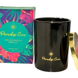 Paradise Cove Luna Red Hibiscus & Green Tea Candle L