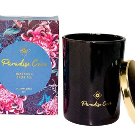 Paradise Cove Mandarin & Green Tea Candle L