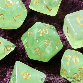 Pastel Green Vapour Dice Now Available Games and Hobbies NZ