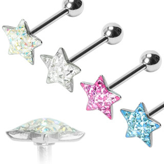 Paved Star Gem Barbell