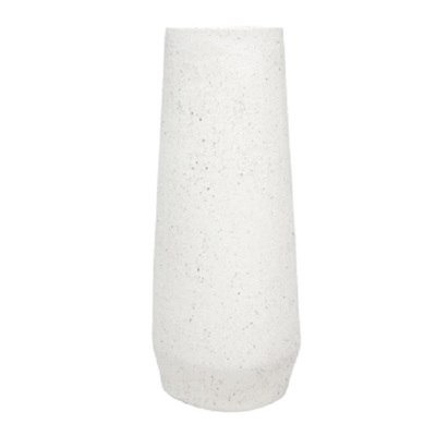 Pavo Textured Ceramic Vase - Oatmeal/Tall