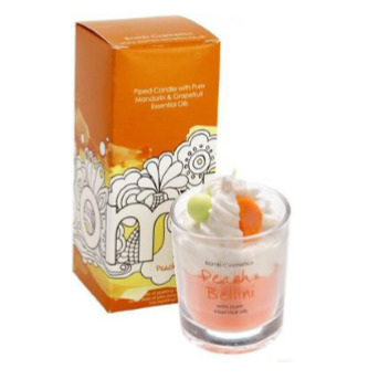 Peach Bellini Pipped Candle