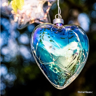 Pearl Heart Hanging Glass Light