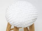 Peel Barstool Natural/White - Teak & Natural 68cmh