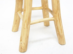 Peel Barstool Natural/White - Teak & Natural 68cmh