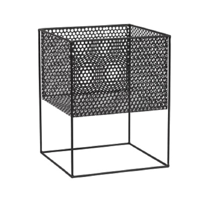 Perforated Square Planter on Stand - Squat