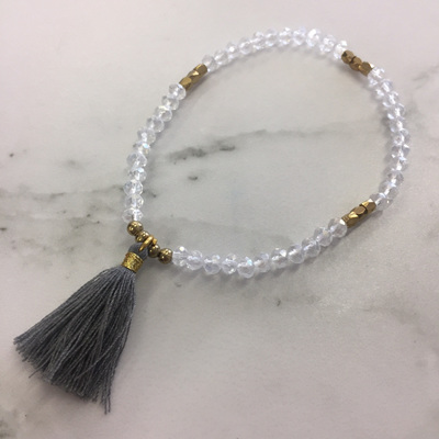 Petite Tide Tassel Bracelet - Storm