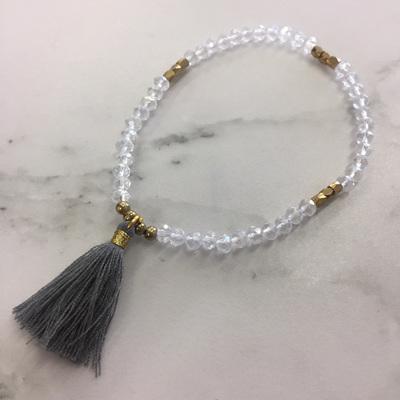 Petite Tide Tassel Bracelet - Storm WAS $9.90