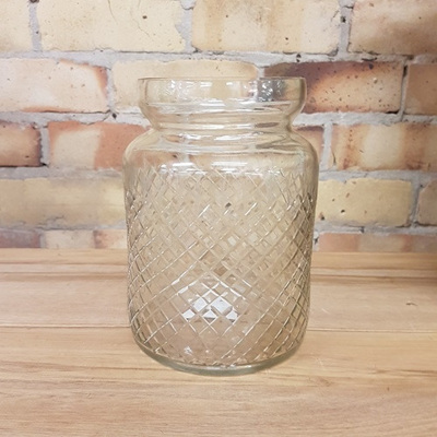Pewter/Cut Glass Vase