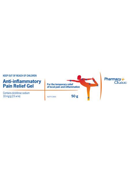 Pharmacy Choice -  Anti-Inflammatory Pain Relief Gel 50g