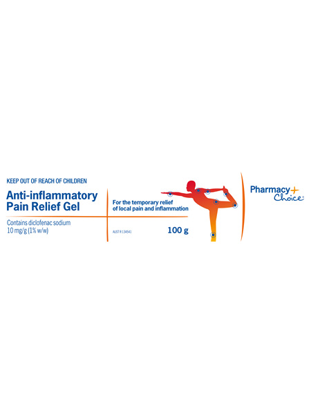 Pharmacy Choice -  Anti-Inflammatory Pain Relief Gel 100g
