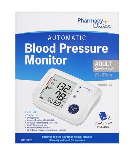 Pharmacy Choice -  Blood Pressure Monitor UA-1020