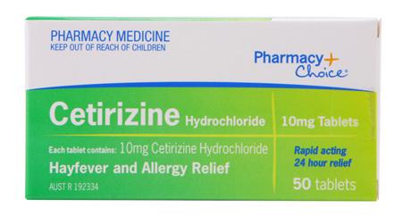 Pharmacy Choice -  Cetirizine Hayfever & Allergy Relief 50 Tablets