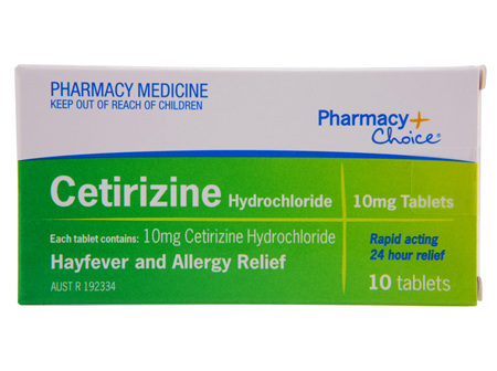 Pharmacy Choice -  Cetirizine Hayfever & Allergy Relief 10 Tablets