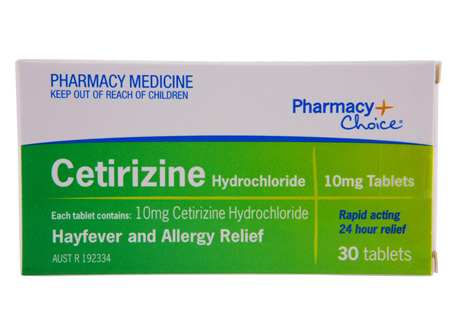 Pharmacy Choice -  Cetirizine Hayfever & Allergy Relief 30 Tablets