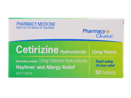Pharmacy Choice -  Cetirizine Hayfever & Allergy Relief 50 Tablets