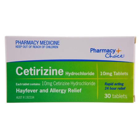 Pharmacy Choice -  Cetirizine Hayfever & Allergy Relief 30 Tablets
